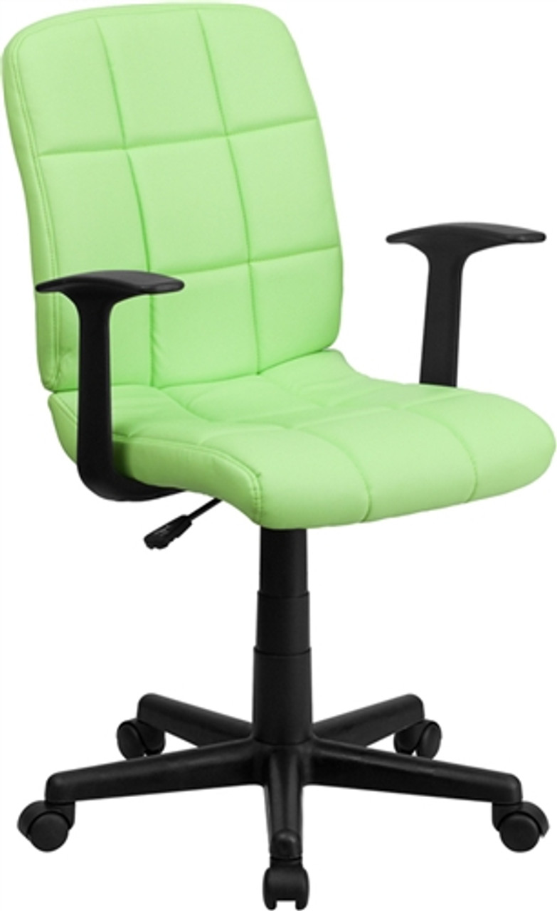 Fantastic Flash Furniture Modern Green Vinyl Desk Chair With Arms Ocoug Best Dining Table And Chair Ideas Images Ocougorg