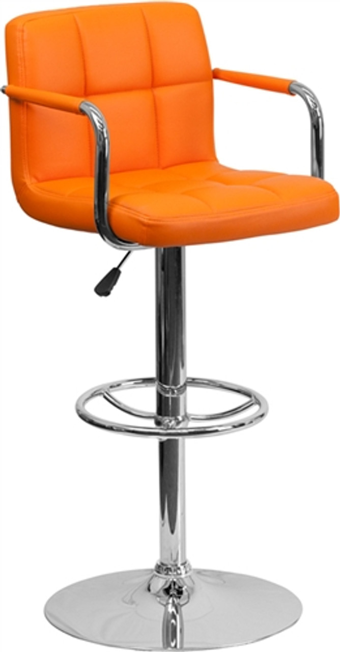 Flash Furniture Modern Orange Vinyl Bar Stool