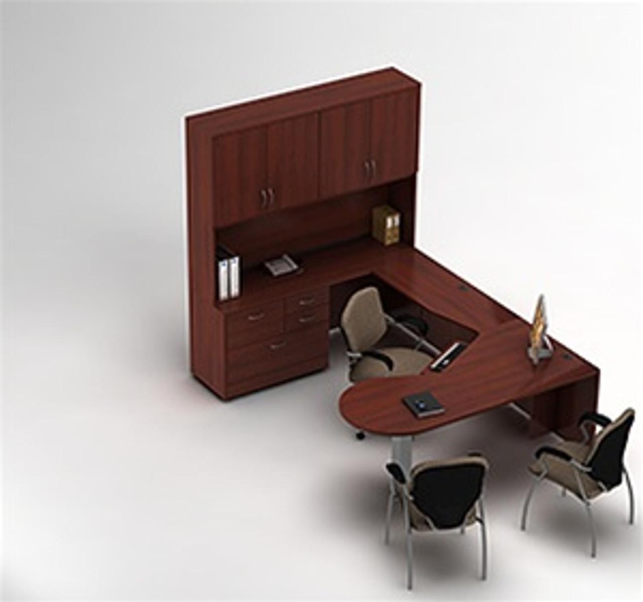 Image of: Global Zira Series Executive Desk Configuration 14