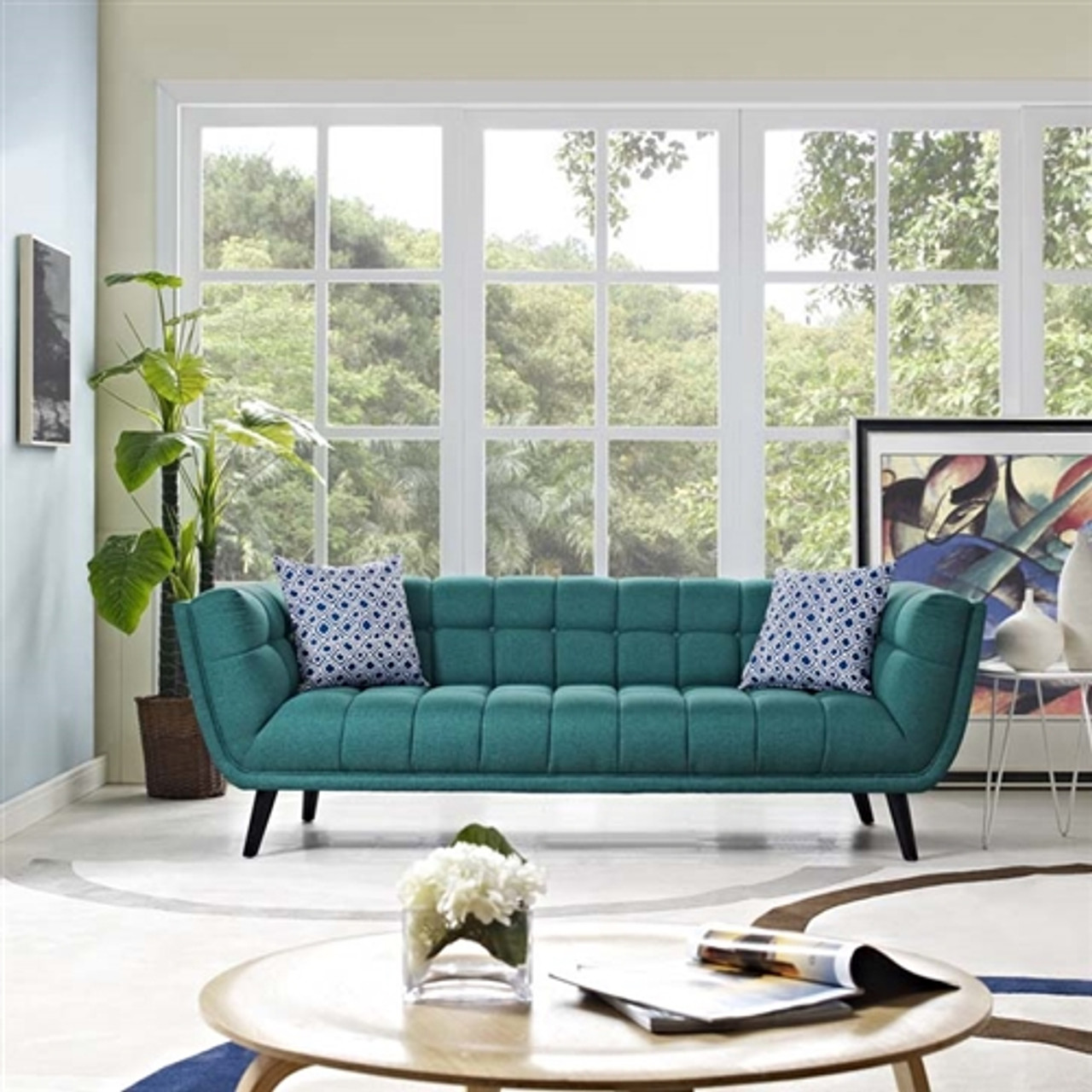 Modway Bestow Contemporary Fabric Sofa