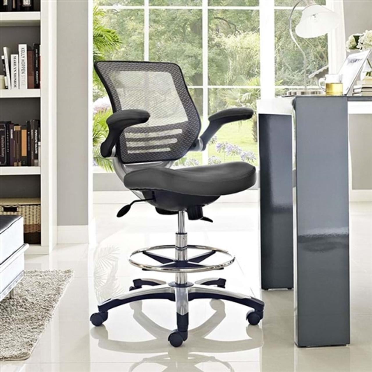 Modway Edge Modern Drafting Stool EEI-41 (41 Colors Options)