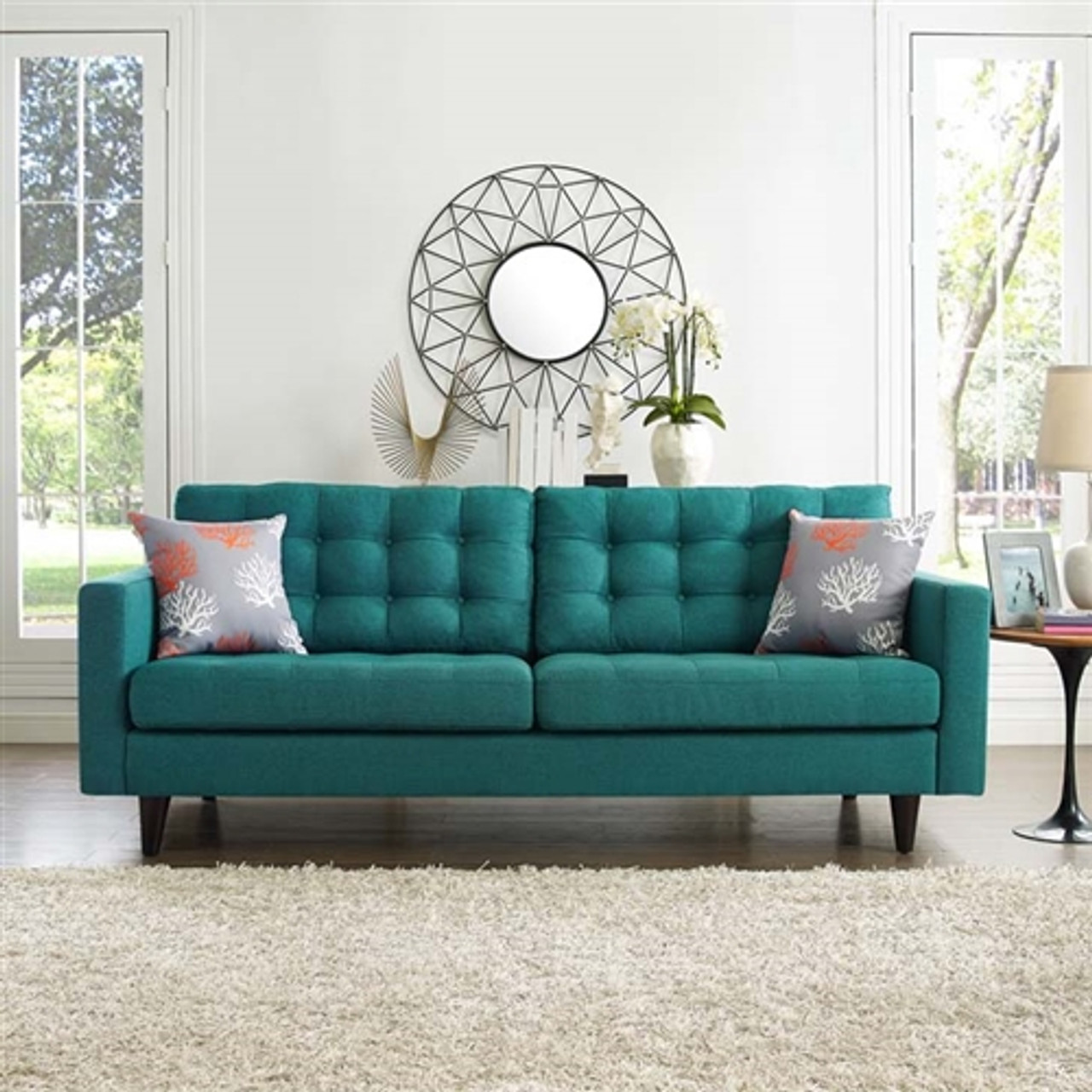 Modway Empress Mid Century Tufted Sofa (10 Color Options!)