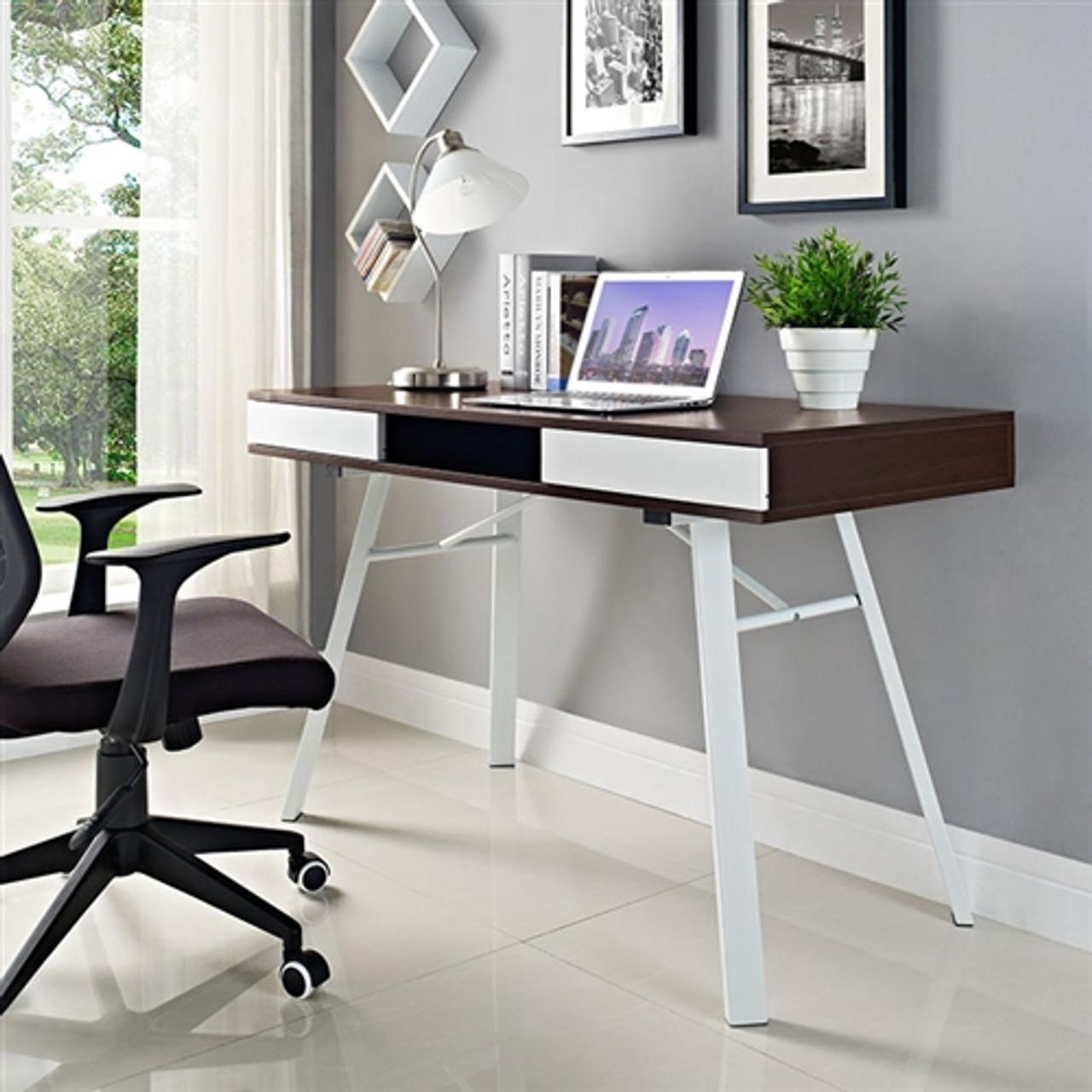 Modway Stir Mid Century Modern Office Desk EEI-39 (39 Finish Options!)