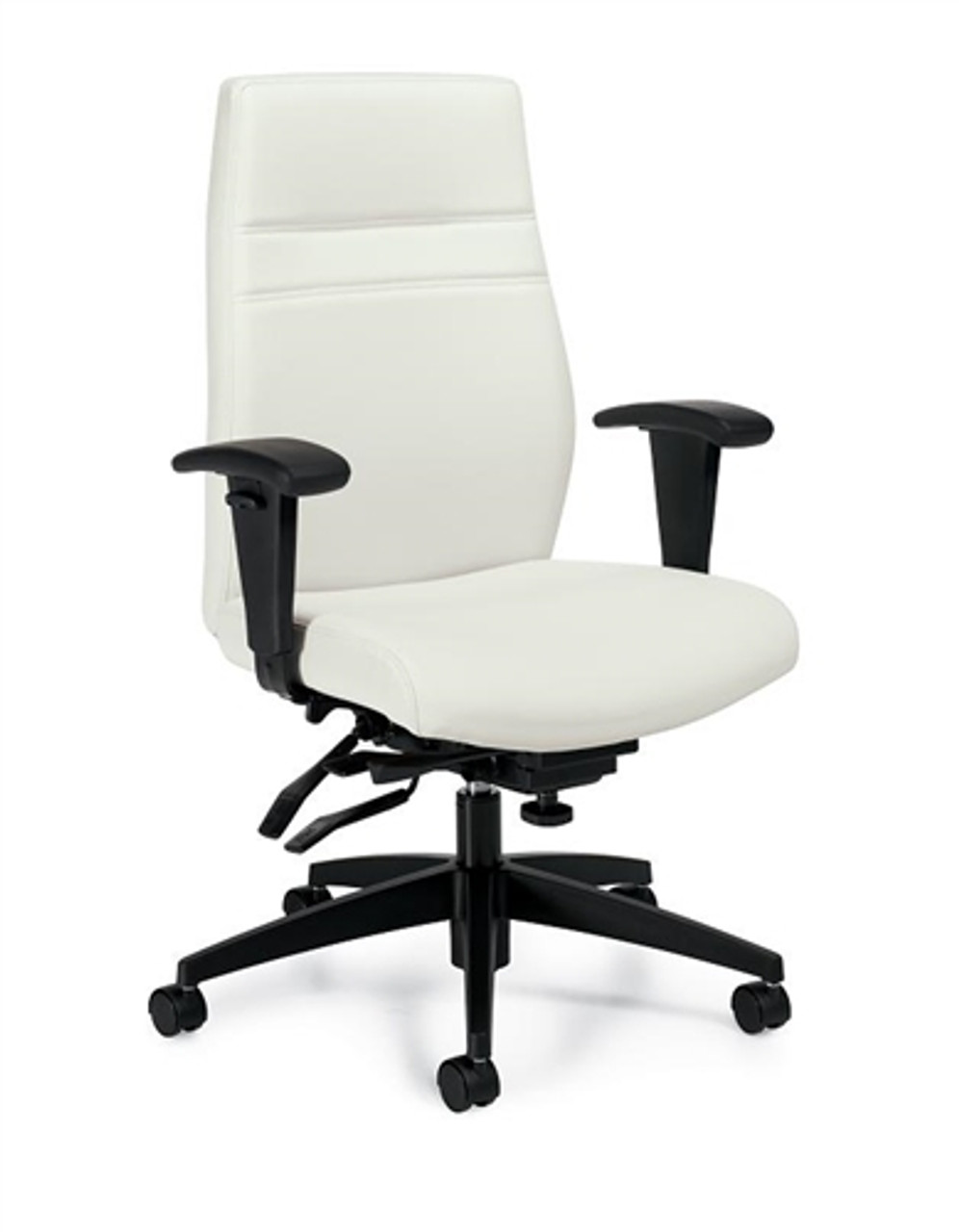 Offices To Go White Leather Executive Chair