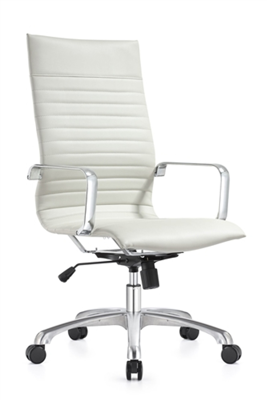 Woodstock Janis White Leather Conference Chair
