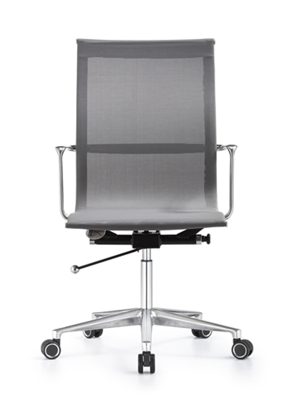 Woodstock Marketing Joan Sleek Gray Mesh Office Chair