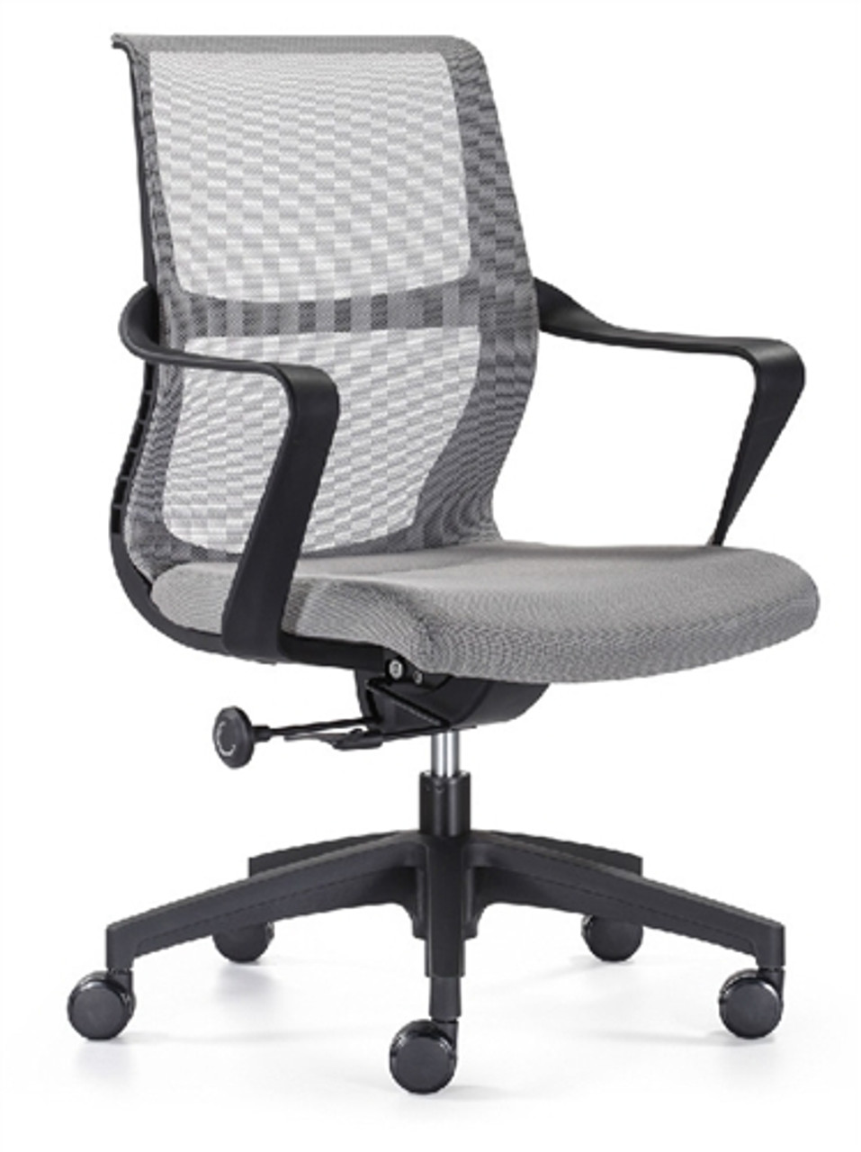 Woodstock Ravi Gray Mesh Conference Chair