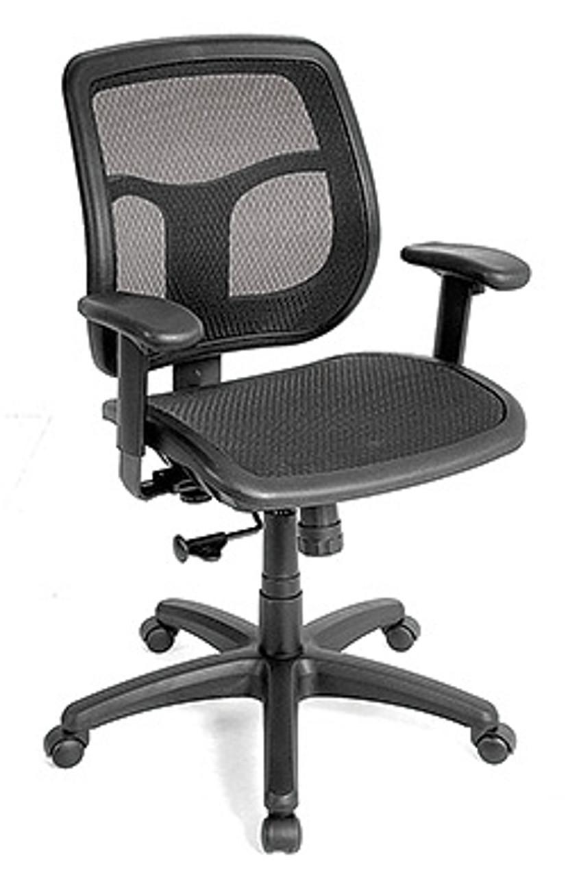 Eurotech Seating Apollo MMT48 Black Mesh Computer Chair