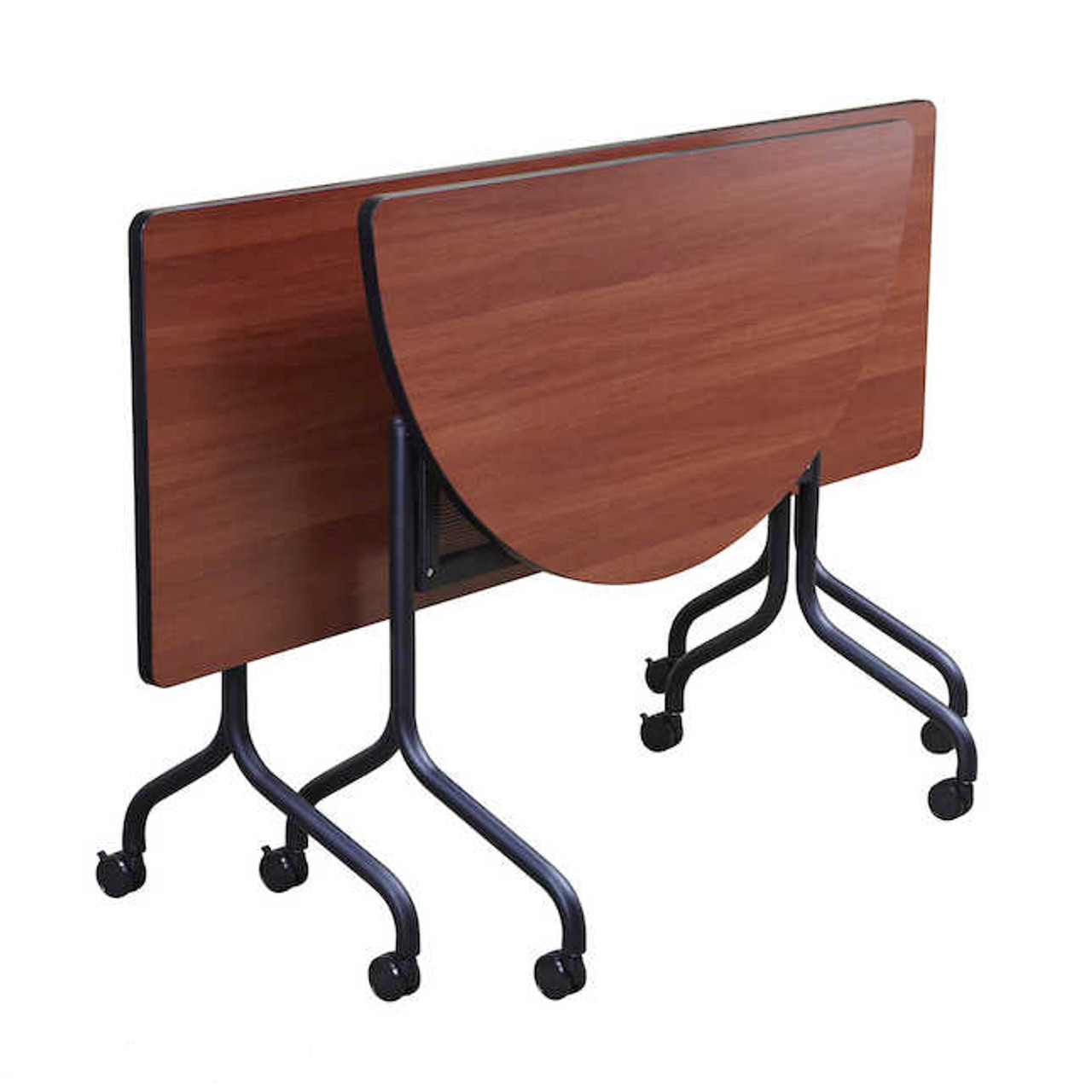 Picture of: Safco 48 X 24 Impromptu Half Round Table