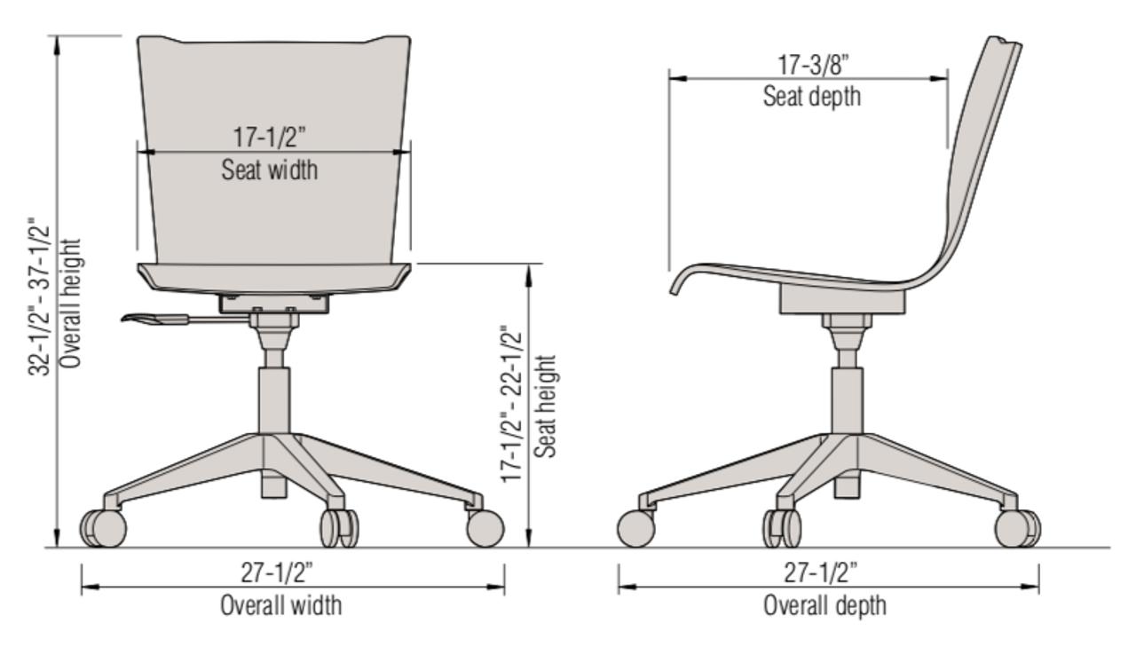 Pleasing Ki Apply Armless Wood Laminate Task Chair Theyellowbook Wood Chair Design Ideas Theyellowbookinfo