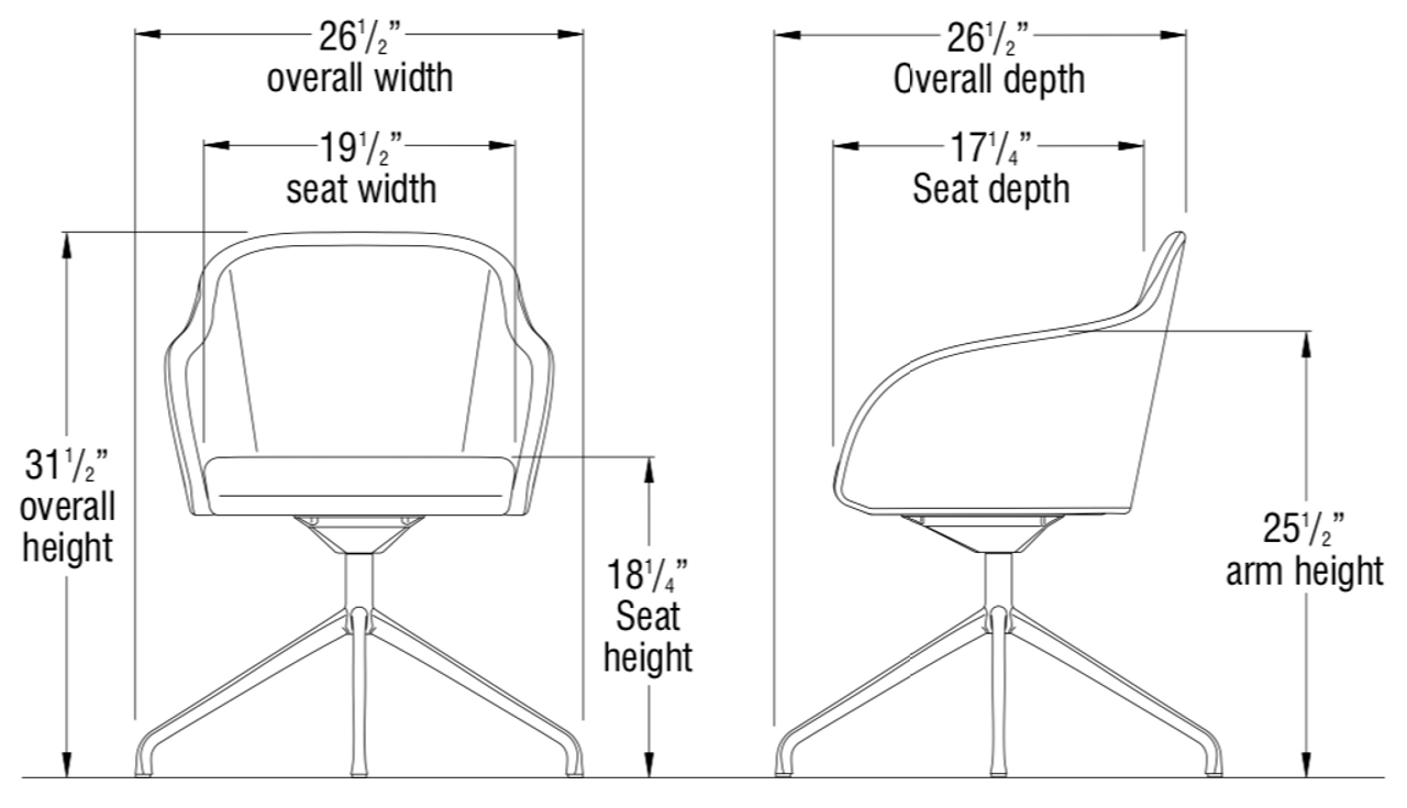 Ki Calida Mid Century Swivel Chair Ca02