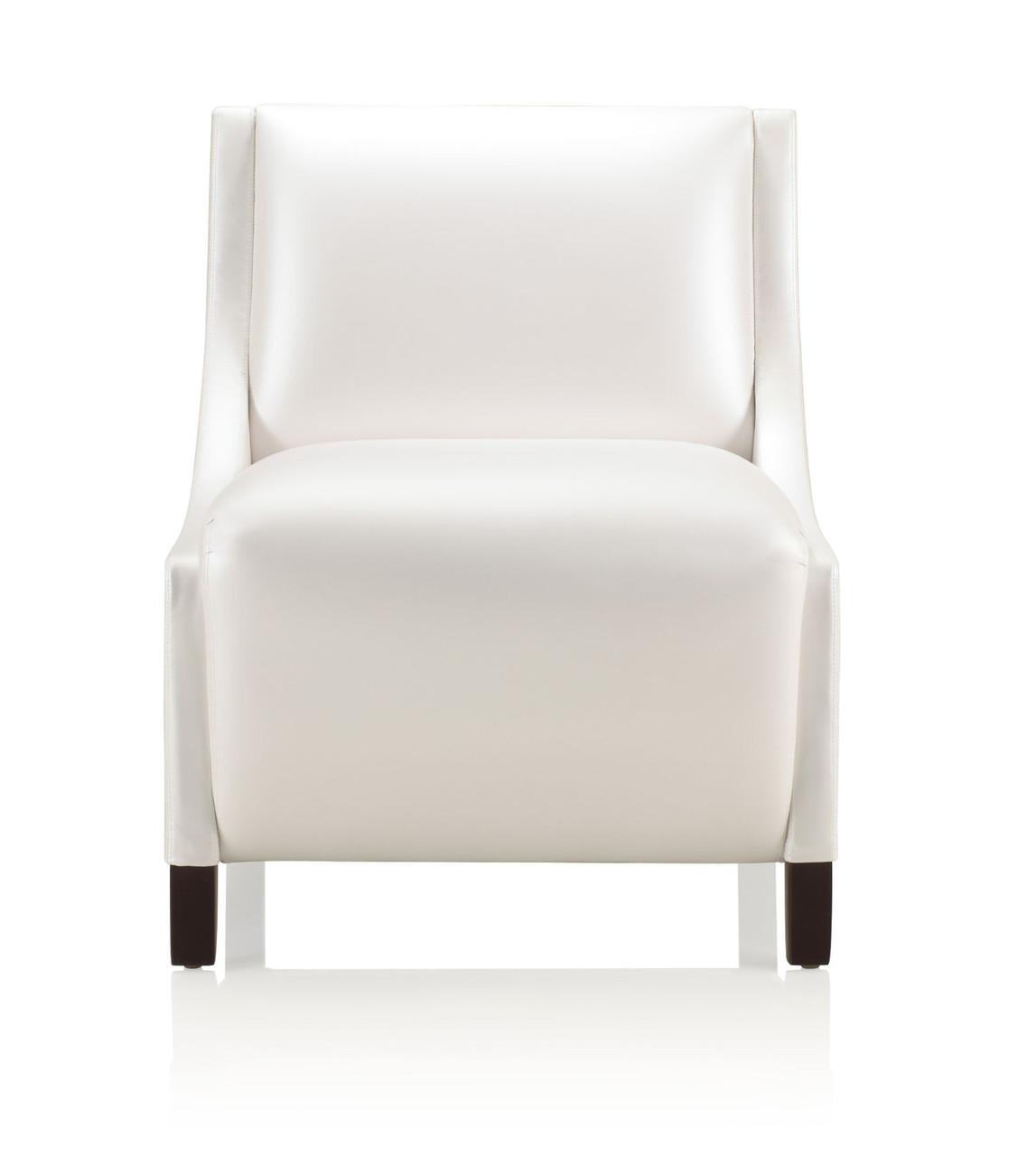 Ki Soltice Armless Medium Back Leather Lounge Chair