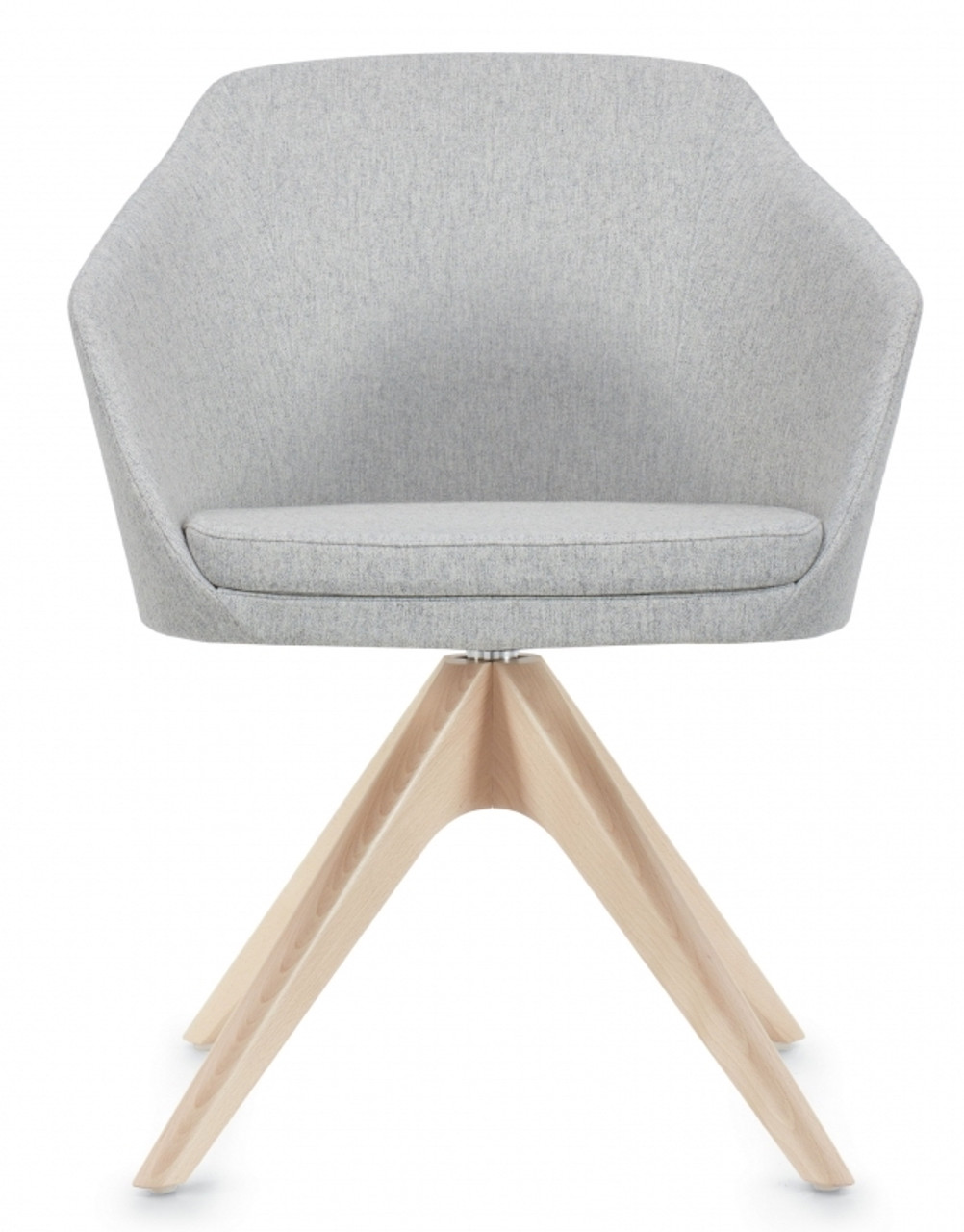 Enjoyable Global Drift Guest Chair With Wood Swivel Base Theyellowbook Wood Chair Design Ideas Theyellowbookinfo