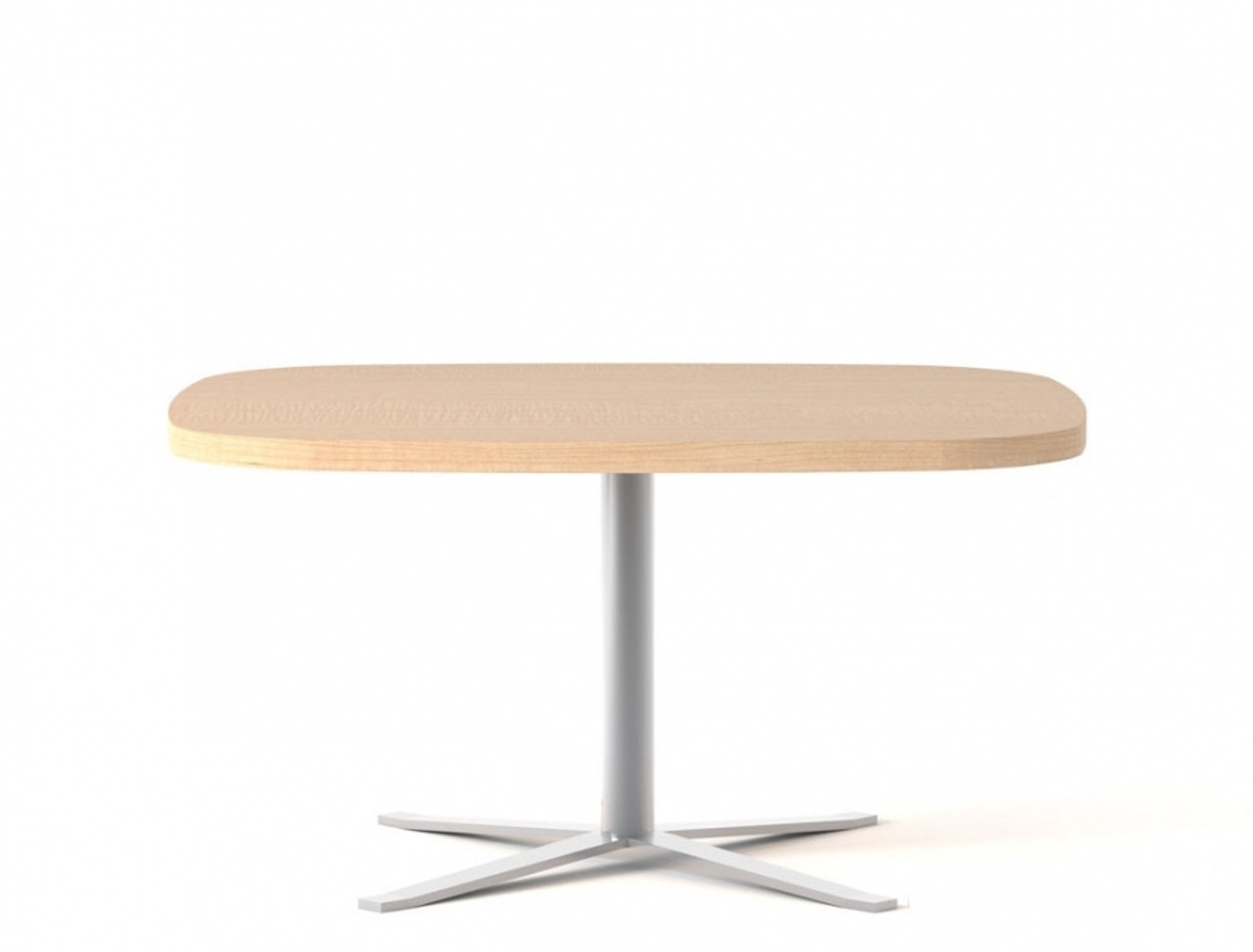 - Global Drift Oval Laminate Accent Table With Chrome Base