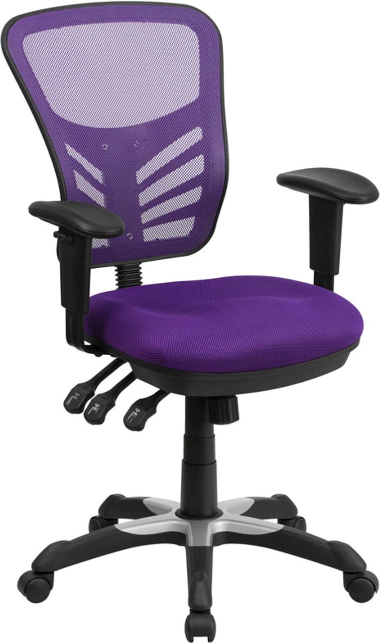 Enjoyable Flash Furniture Purple Mesh Ergonomic Chair Cjindustries Chair Design For Home Cjindustriesco