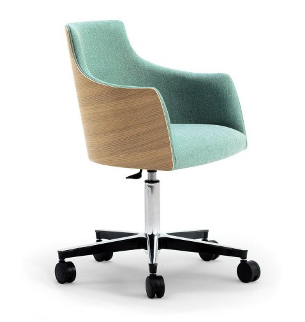 Cape Furniture Albert One Mid Century Office Chair With Wood Back Shell