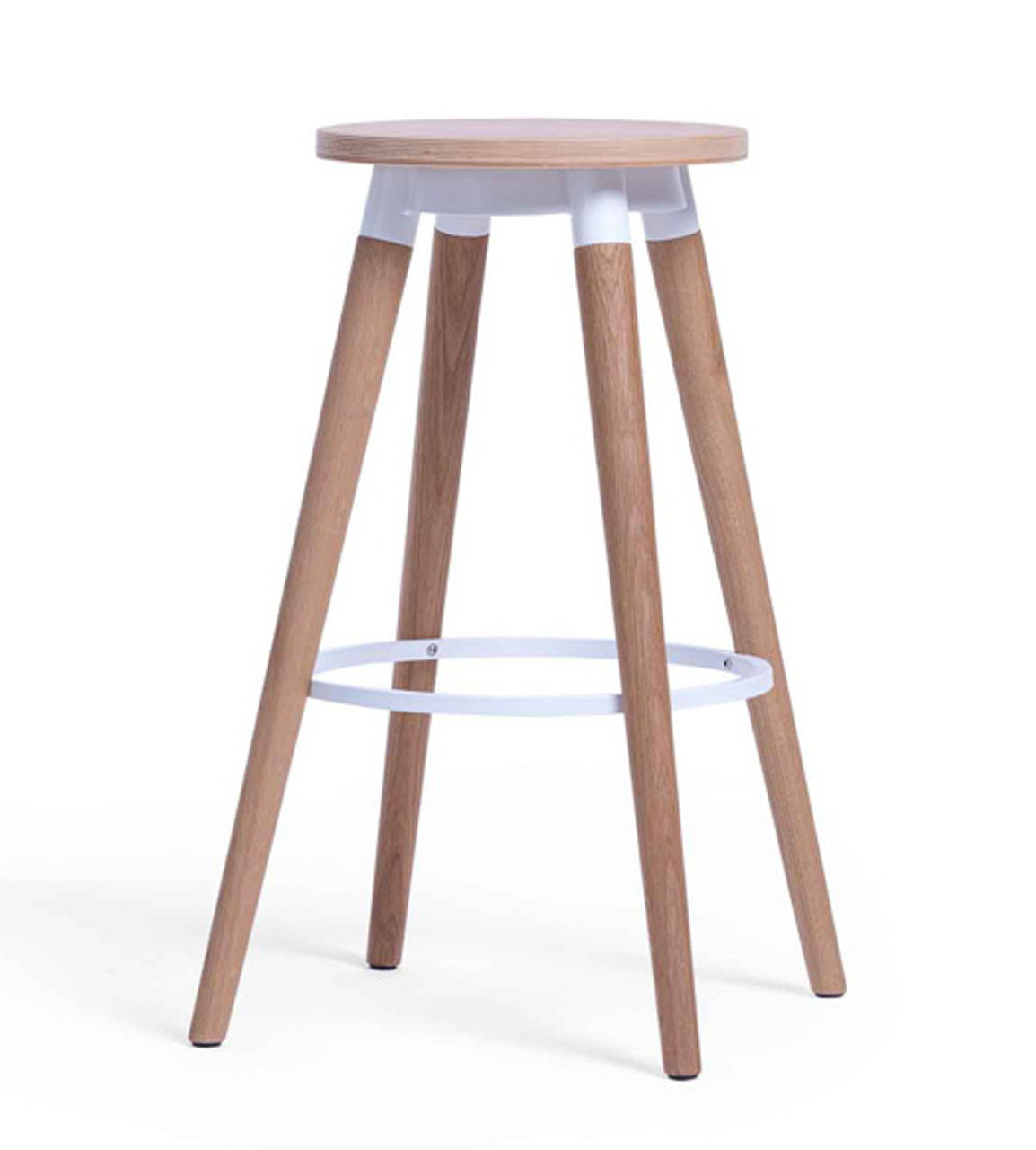 Picture of: Cape Furniture Dix Backless Wood Bar Stool