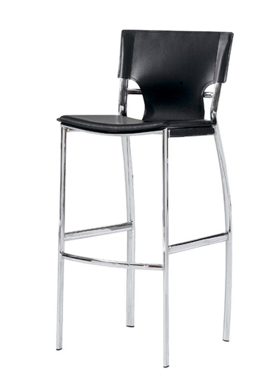 Picture of: Cape Furniture Tosca Modern Black Leather Bar Stool