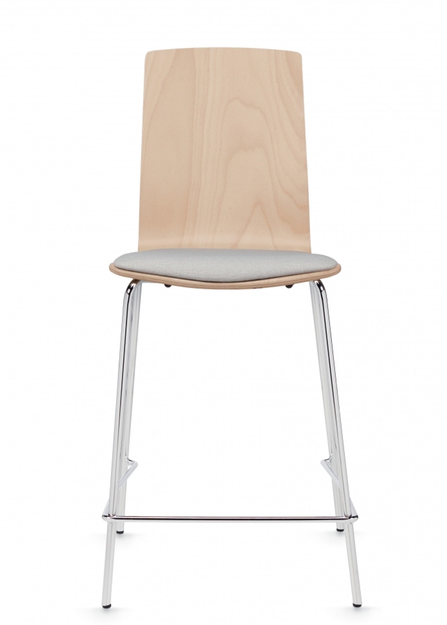 Picture of: Global Sas Mid Back Contemporary Wood Counter Stool