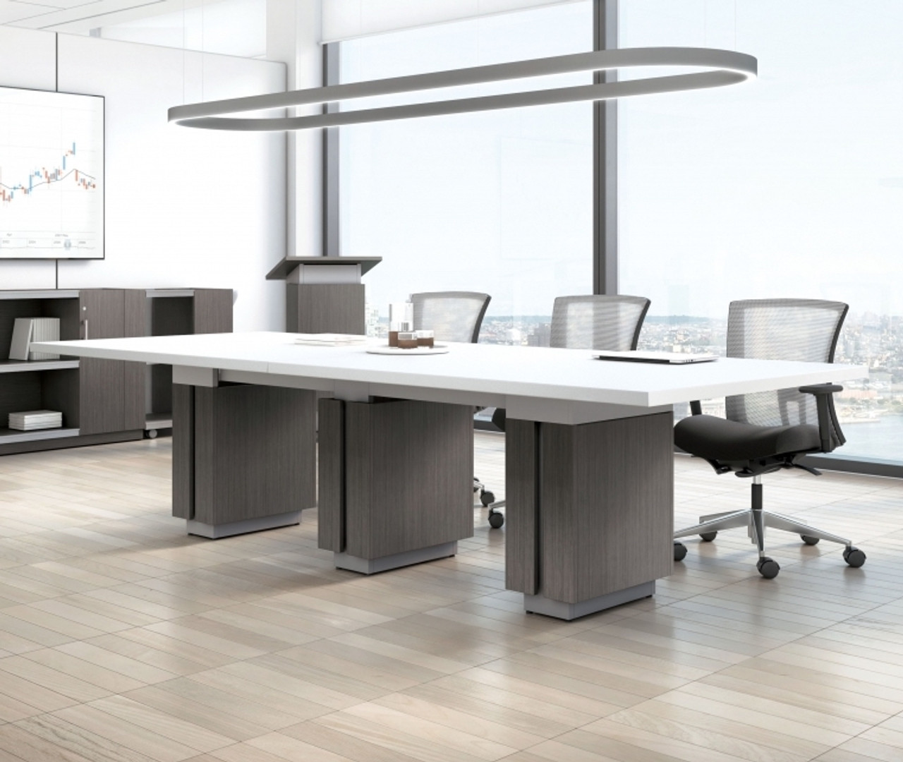 Picture of: Global Zira 10 X 4 Two Tone Rectangular Conference Table