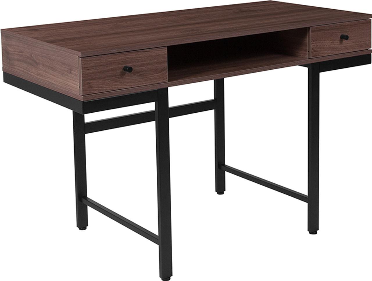 Flash Furniture Bartlett Dark Ash Wood Grain Finish Computer Desk