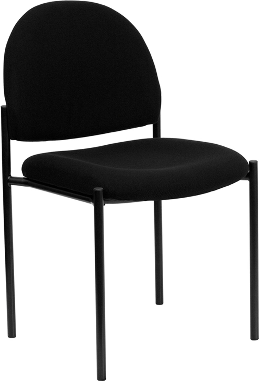 Flash Furniture Black Fabric Stackable Reception Chair
