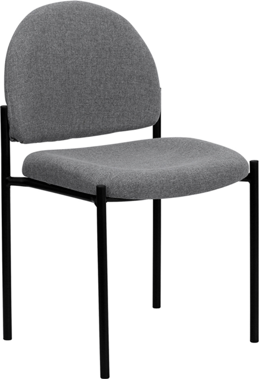 Flash Furniture Gray Fabric Stackable Reception Chair