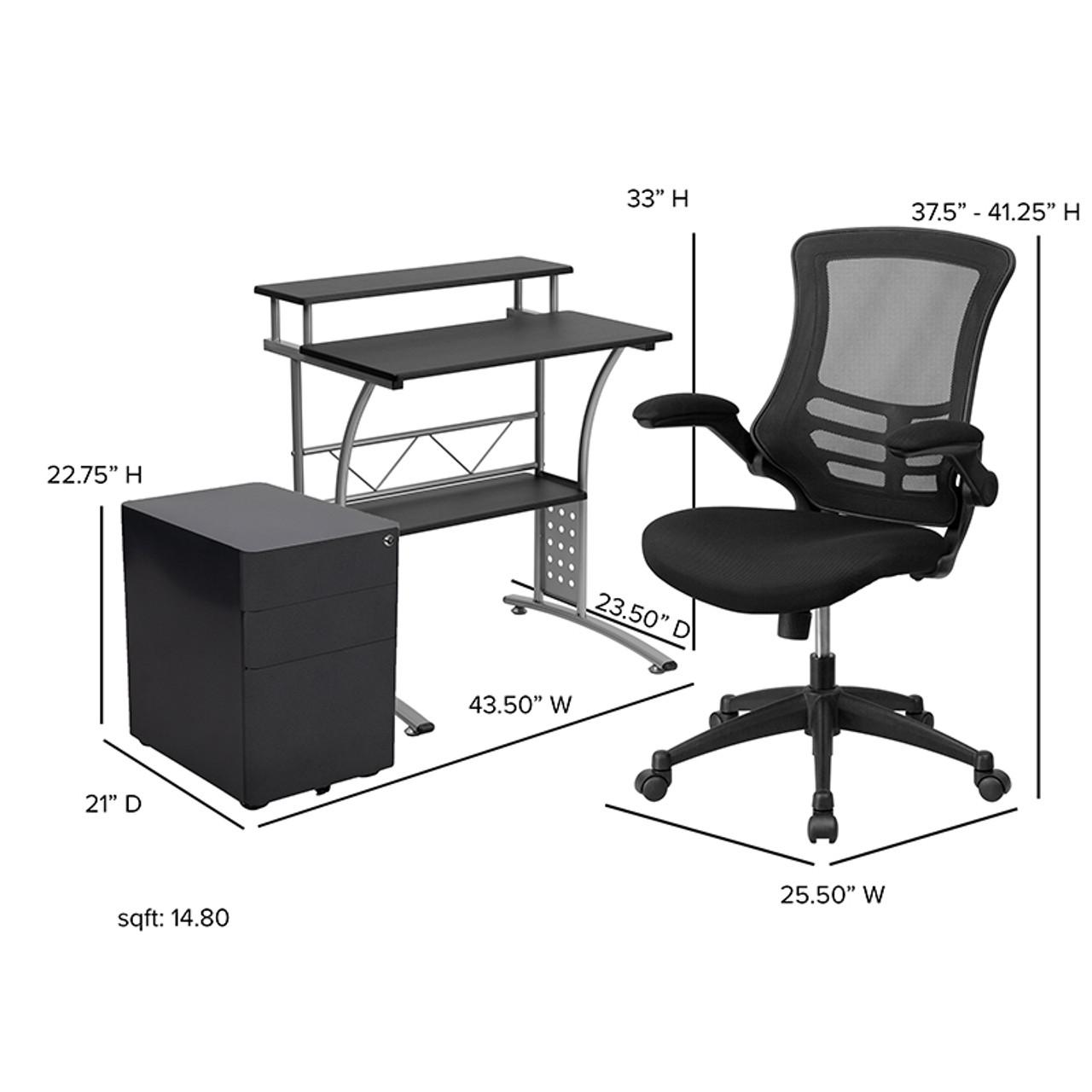 Flash Furniture Small Computer Furniture Set