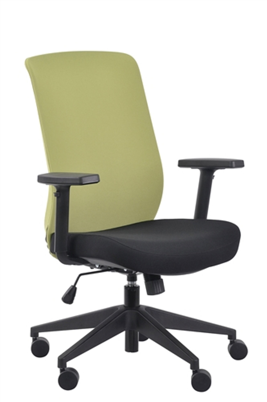 Eurotech Seating Gene Lime Fabric Back Task Chair