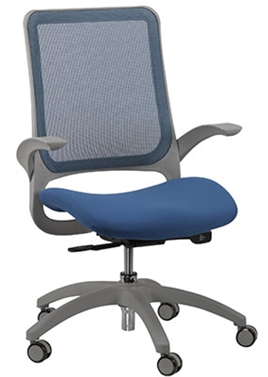Eurotech Seating Hawk Series Blue Mesh Back Computer Chair with Grey Frame