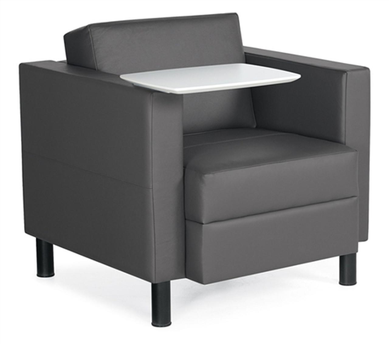 Marvelous Global Citi Series Tablet Arm Leather Lounge Chair 7875Lfltl Inzonedesignstudio Interior Chair Design Inzonedesignstudiocom