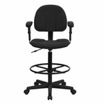Flash Furniture Black Drafting Chair with Arms