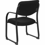 Flash Furniture Black Fabric Executive Side Chair with Sled Base