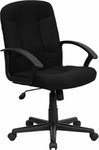 Flash Furniture Black Fabric Office Chair with Nylon Arms
