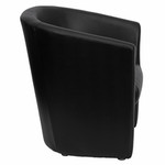 Flash Furniture Black Leather Barrel-Shaped Guest Chair
