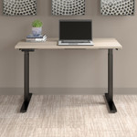 sand oak move 60 table with black legs