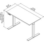 move 60 adjustable table dimensions