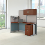 Bush Office In An Hour Hansen Cherry Cubicle with Storage WC36492-03STGK