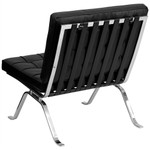 Flash Furniture Black Leather Lounge Chair with Metal Legs