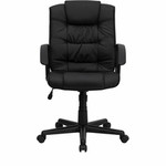 Flash Furniture Black Leather Office Chair GO-937M-BK-LEA-GG
