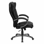 Flash Furniture Black Leather Office Swivel Chair