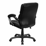 Flash Furniture Black Leather Overstuffed Office Chair
