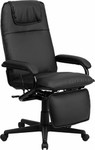Flash Furniture Black Leather Reclining Office Chair