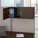 Bush Office In An Hour Mocha Cherry Workstation with Storage WC36892-03STGK