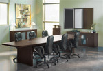 10' Aberdeen Laminate Boardroom Table with Mocha Finish by Mayline