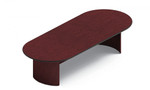 10' Long Racetrack Boardroom Table with Mahogany Finish by Global