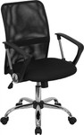 Flash Furniture Black Mesh Computer Task Chair with Chrome Base