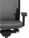 Global G20 Mesh Chair with Leather Seat 6007L