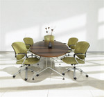 Global GEL12WSTM Alba 12' Elliptical Conference Table