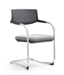 2 Pack of Woodstock Marketing Shankar Series Gray Guest Chairs